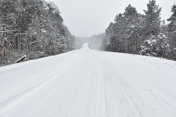 Brad Davis/The Register-Herald<br /> The view of Dearing Drive just before 1:00 p.m. Saturday.