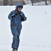 Brad Davis/The Register-Herald<br /> A pedestrian trudges along Eisenhower Drive Saturday.