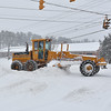 Brad Davis/The Register-Herald<br /> Road clearing efforts along Robert C. Byrd Drive in Beckley Saturday morning.