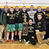 Brad Davis/The Register-Herald<br /> The Greenbrier East wrestling team poses for photos after taking first place overall in the BNI Tournament Saturday at Shady Spring High School.