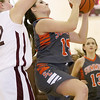 Brad Davis/The Register-Herald<br /> Summers County's Morgan Miller drives to the basket during the Lady Bobcats' win over the Lady Eagles Wednesday night in Beckley.