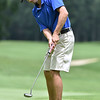 (Brad Davis/The Register-Herald) Cole Moore putts during Monday's final round of the BNI Monday afternoon on the Cobb Course at Glade Springs.