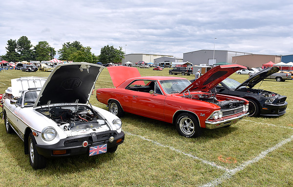 (Brad Davis/The Register-Herald) Friends of Coal Auto Fair Friday afternoon at the Raleigh County Memorial Airport.