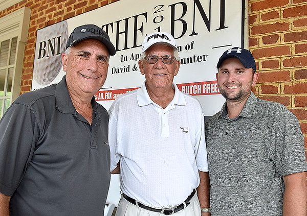 (Brad Davis/The Register-Herald) From left, Mike Mays, Mike senior and Nick Mays at the BNI Monday afternoon.