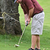 (Brad Davis/The Register-Herald) Steven Gardner watches his putt during BNI Classic action Saturday afternoon at Grandview Golf Course.