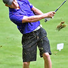 (Brad Davis/The Register-Herald) Cam Moore shoots from the fairway during Monday's final round of the BNI Monday afternoon on the Cobb Course at Glade Springs.