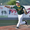 (Brad Davis/The Register-Herald) Miners pitcher, Beckley native and former Woodrow Wilson player Chris Metrick delivers during a game June 19 at Linda K. Epling Stadium.