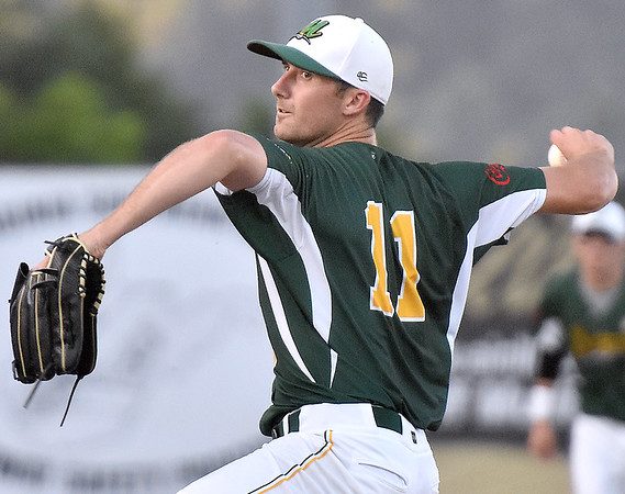 (Brad Davis/The Register-Herald) West Virginia starting pitcher Michael Syrett delivers during the Miners' 3-2 win over the Butler Blue Sox Friday night at Linda K. Epling Stadium.
