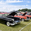 (Brad Davis/The Register-Herald) Classic rides stretch as far as the eye can see as they sit on display at the Friends of Coal Auto Fair Friday afternoon at the Raleigh County Memorial Airport.