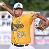 (Brad Davis/The Register-Herald) West Virginia starting pitcher Jarron Monroe delivers against Champion City Thursday night at Linda K. Epling Stadium.