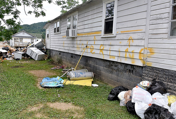 (Brad Davis/The Register-Herald) Rainelle is still picking up the pieces two weeks after historic flooding swept through the area.