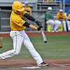 (Brad Davis/The Register-Herald) West Virginia's Anthony Ayala knocks in a run during the Miners' game against Champion City Thursday night at Linda K. Epling Stadium.
