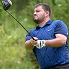 (Brad Davis/The Register-Herald) Doss Howell tees off during BNI Classic action Saturday afternoon at Brier Patch Golf Links.