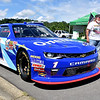 (Brad Davis/The Register-Herald) Elliot Sadler's Xfinity Series stock car was on display at the Friends of Coal Auto Fair Saturday afternoon at the Raleigh County Memorial Airport.