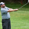(Brad Davis/The Register-Herald) Brandon Waters shoots from the fairway during Monday's final round of the BNI Monday afternoon on the Cobb Course at Glade Springs.