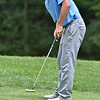 (Brad Davis/The Register-Herald) Landon Perry, the eventual runner up, putts during Monday's final round of the BNI Monday afternoon on the Cobb Course at Glade Springs.