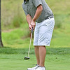 (Brad Davis/The Register-Herald) Nick Mays putts during Monday's final round of the BNI Monday afternoon on the Cobb Course at Glade Springs.