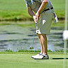 (Brad Davis/The Register-Herald) Harold Mays putts during BNI action Sunday morning at Brier Patch Golf Links.