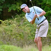 (Brad Davis/The Register-Herald) Stuart Scott chips onto the green during Monday's final round of the BNI Monday afternoon on the Cobb Course at Glade Springs.