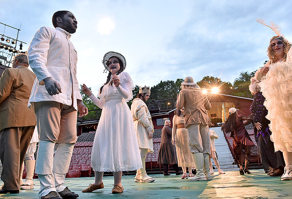 """(Brad Davis/The Register-Herald) Theatre West Virginia's """"The Addams Family Musical"""" at Grandview Park's Cliffside Amphitheater."""