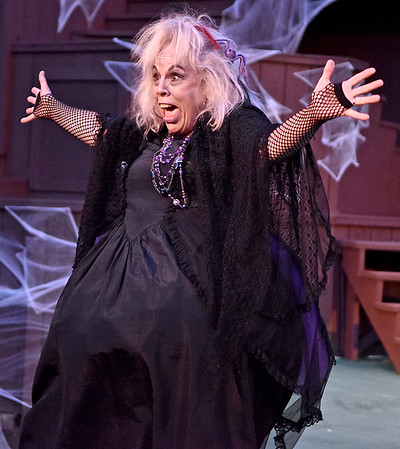 "(Brad Davis/The Register-Herald) Theatre West Virginia's ""The Addams Family Musical"" Saturday night at Grandview Park's Cliffside Amphitheater."