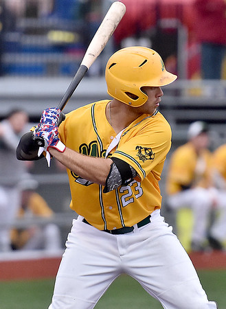 (Brad Davis/The Register-Herald) West Virginia's Keanan Locke bats during the Miners' win over the Kokomo Jackrabbits Friday night at Linda K. Epling Stadium.