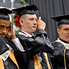 (Brad Davis/The Register-Herald) Graduating Westside seniors turn their tassels to the left as the school's 2016 commencement ceremony comes to an end Sunday afternoon in Clear Fork.