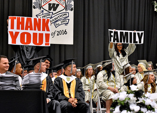 (Brad Davis/The Register-Herald) Westside High 2016 commencement ceremony Sunday afternoon in Clear Fork.