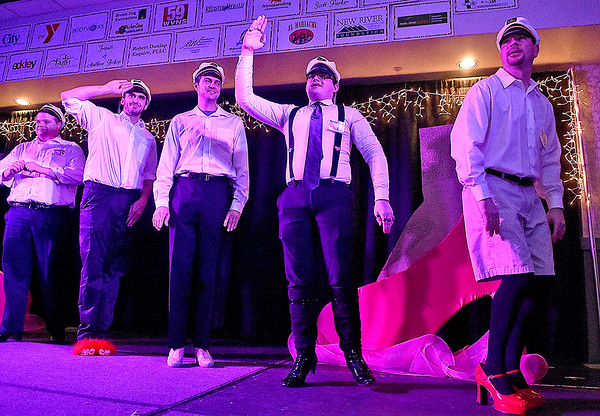 Women's Resource Center's Hunks in Heels event Friday night at the Beckley-Raleigh County Convention Center.