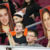 (Brad Davis/The Register-Herald) A young Summers County fan reacts to events on the court during the Lady Bobcats' first round state tournamnet game against the Indians Wednedsay night at the Charleston Civic Center.