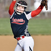 (Brad Davis/The Register-Herald) Independence pitcher Emily Ward delivers during the Patriots' game against Liberty Monday afternoon in Coal City.