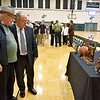 (Brad Davis/The Register-Herald) Wyoming East girls basketball state championship celebration Monday evening in the school's gymnasium.