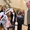Ten-year-old White Sulphur Springs resident Bailey Nicely receives one of the most elaborate balloon outfits one could ever receive, a butterfly, from balloon sculptor, magician and ventriloquist Garry Boothe during The Greenbrier's Easter Fun fest Sunday afternoon.