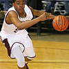 (Brad Davis/The Register-Herald) Woodrow Wilson's Breland Walton charges to the basket during the Flying Eagles' win over the Red Devils Wednesday night at the Beckley-Raleigh County Convention Center.