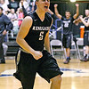 (Brad Davis/The Register-Herald) Westside's Larry Cook reacts towards the student section as time runs out during the Renegades' win over cross-county rival Wyoming East Saturday night at the Beckley-Raleigh County Convention Center.