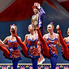 "(Brad Davis/The Register-Herald) Red, white and blue-clad dancers perform during the opening moments of Beckley Dance Theatre School's production, ""God Bless America,"" Wednesday night at the Woodrow Wilson High School Auditorium."