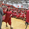 (Brad Davis/The Register-Herald) Graduating seniors from Oak Hill High School receive their degrees during the school's 2016 Commencement ceremony Friday night inside the school's gymnasium.