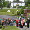 American Legion Post 32 lead a procession from the Wildwood Museum to Alfred Beckley's gravesite during the 8th annual Founders Day celebration.<br /> (Rick Barbero/The Register-Herald)