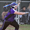 (Brad Davis/The Register-Herald) James Monroe's Savannah Sykes watches the ball sail over the left field fence after connecting for a 7th inning, go-ahead solo homer during the Lady Mavericks' regional championship win over Wyoming East Thursday evening in New Richmond.