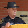 Layette County Sheriff Steve Kessler speaks during the annual police memorial at the Fayette County Courthouse in Fayetteville on Monday. (Chris Jackson/The Register-Herald)