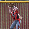 (Brad Davis/The Register-Herald) Oak Hill outfielder Angela Skeens plays a fly ball against Shady Spring March 4.