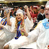 Liberty High School graduates celebrate with silly string after the graduation ceremony held at the Beckley-Raleigh County Convention Center Saturday afternoon.<br /> (Rick Barbero/The Register-Herald