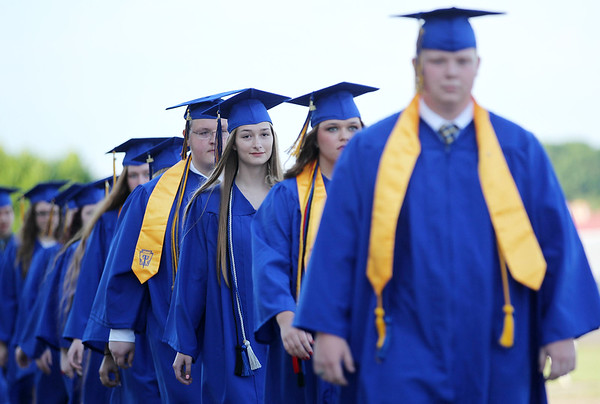 The Greenbrier West Class of 2016 graduates Friday at the State Fairgrounds in Fairlea. (Chris Jackson/The Register-Herald)