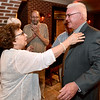 (Brad Davis/The Register-Herald) Beckley Mayor-elect Rob Rappold and his wife Barbara react as news of his win makes its way through his election headquarters in the old McBee's location Tuesday night in Beckley.