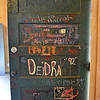 (Brad Davis/The Register-Herald) The doors of the renovated cabins were left with years of signatures still visible, while the walls bearing the same thing weren't removed, but covered by the new walls.