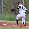 (Brad Davis/The Register-Herald) Shady Spring first baseman Austin Wood against Oak Hill May 7 in Shady Spring.