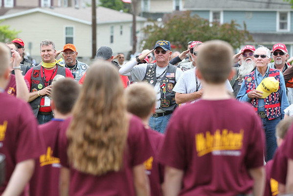 Rolling Thunder rolls through Rainelle during their annual Run for the Wall Thursday. (Chris Jackson/The Register-Herald)
