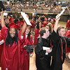 Liberty High School celebrating after graduation ceremony held at the Beckley-Raleigh County Convention Center Saturday afternoon.<br /> (Rick Barbero/The Register-Herald)