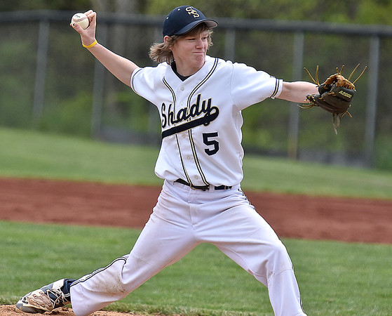 (Brad Davis/The Register-Herald) Shady Spring's Cam Lilly against Oak Hill May 7 in Shady Spring.