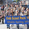 Cub Scout Pack 16, Shady Spring marching up Neville Street during the Beckley Veterans Day Parade Friday morning.<br /> (Rick Barbero/